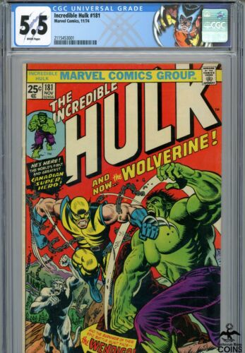 1974 Incredible Hulk 181 CGC Certified 55 Wolverine First Full Appearance