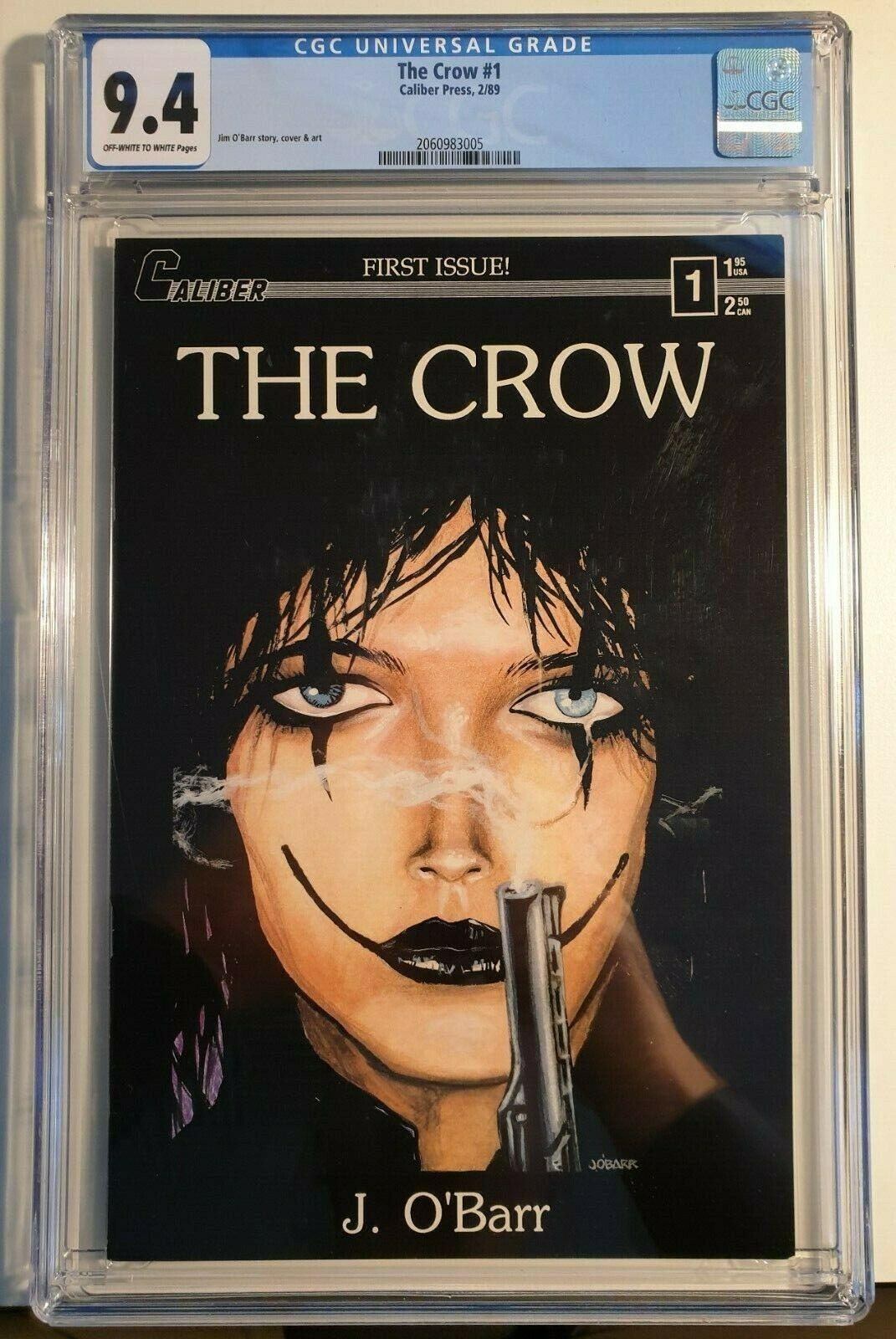 The Crow 1 Caliber Press Feb 1989  CGC 94 Near Mint First print  James