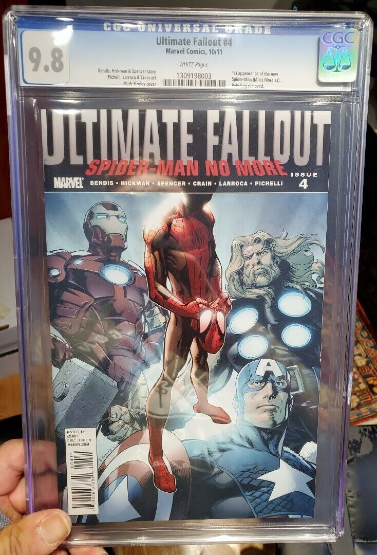 Ultimate Fallout  4 CGC 98 First Full Miles Morales MEGA KEY