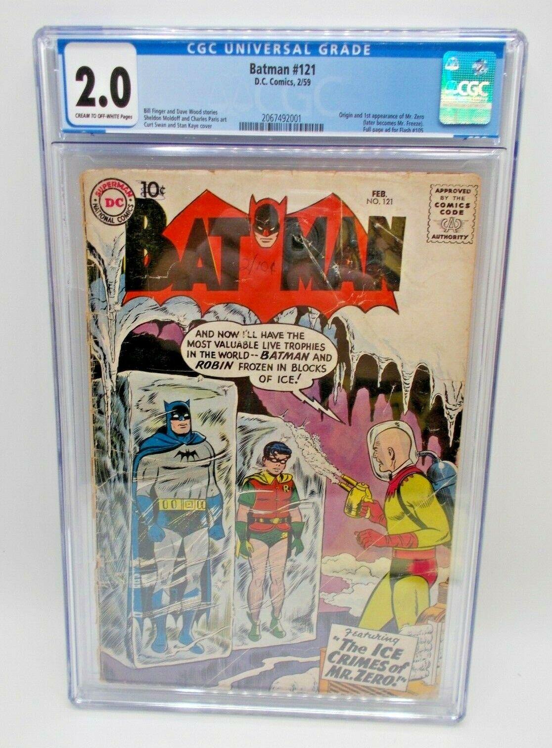 Batman 121 1959 CGC 20 GRADED 1st App Mr Zero  Mr Freeze DC Comic Key Issue