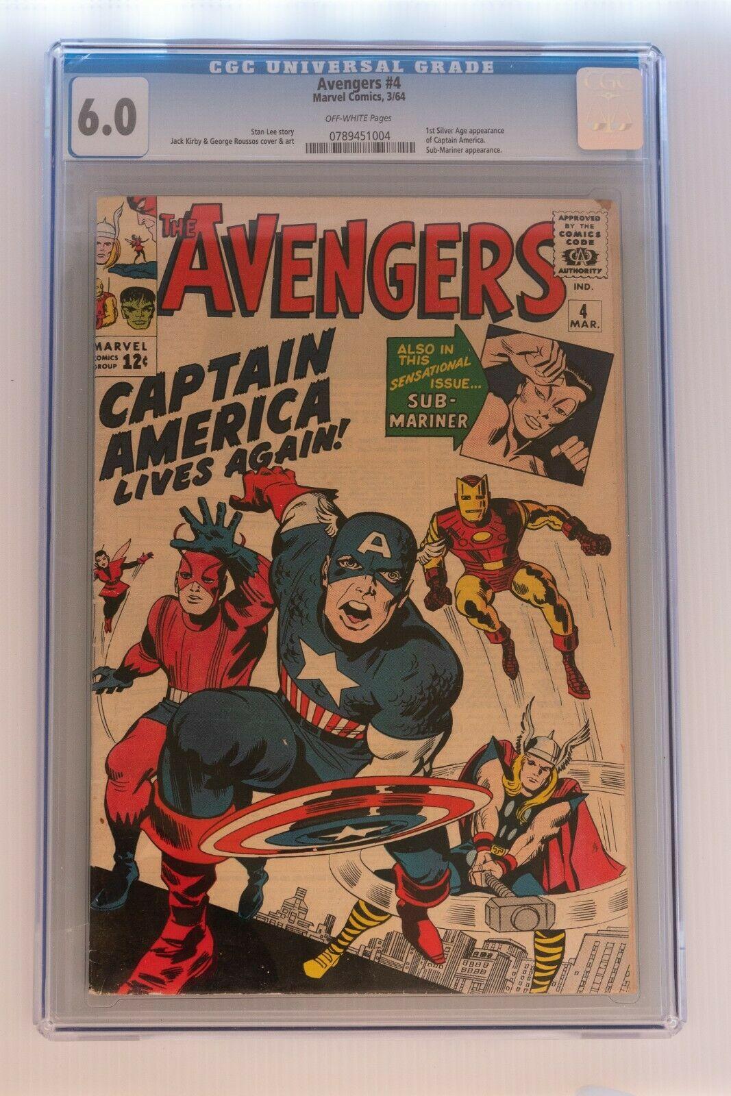 Avengers Issue 4  60 CGC Grade