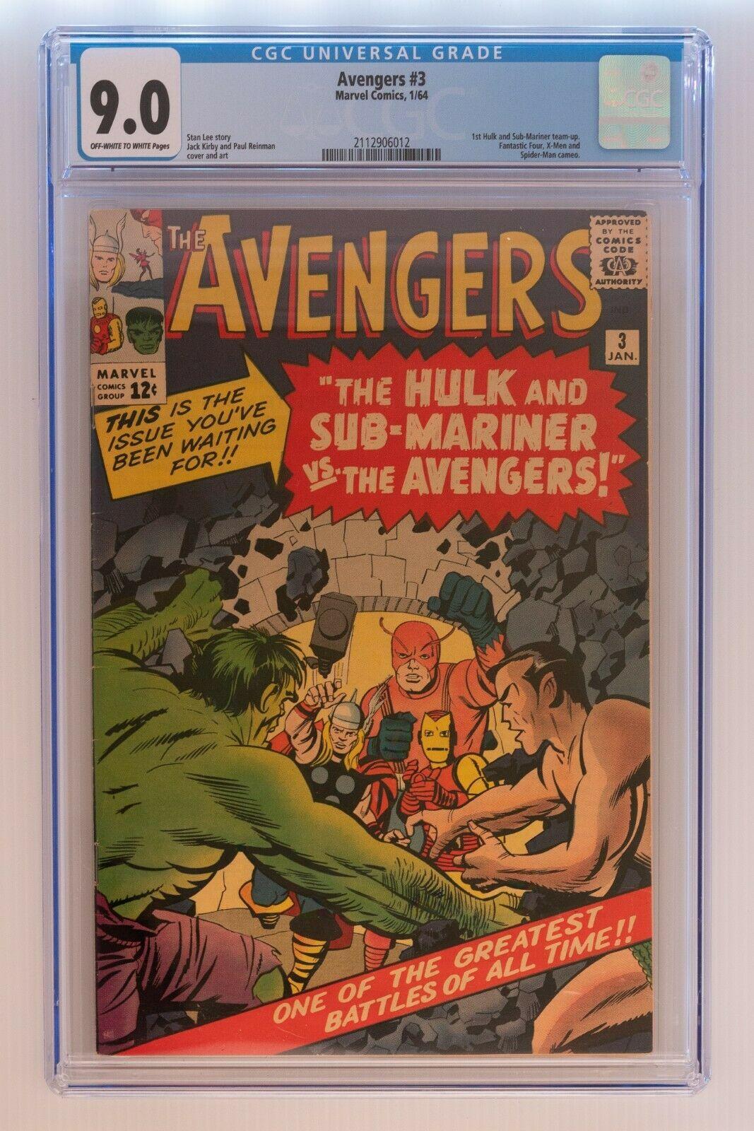 Avengers Issue 3  90 CGC Grade