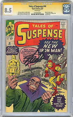 1963 Tales of Suspense 48 CGC 85 Signed by Stan Lee New Iron Man Armor