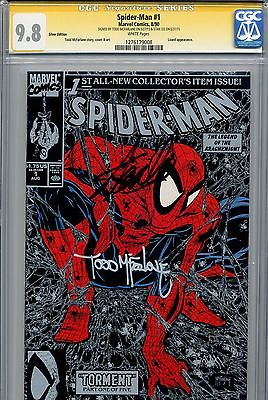 SpiderMan 1990 1 CGC 98 SS Silver variant Stan Lee Todd McFarlane White Pages