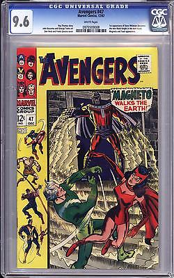 AVENGERS 47 CGC 96   WHITE PAGES  MAGNETO  1ST BLACK KNIGHT