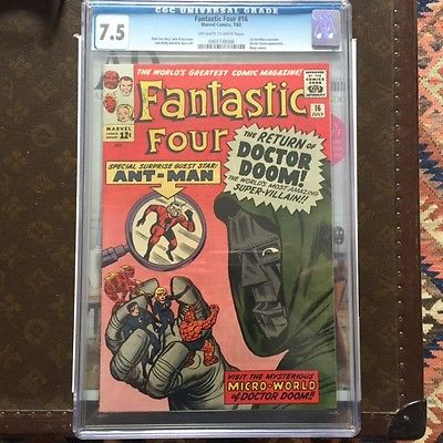 Fantastic Four 16 Jul 1963 Marvel CGC 75