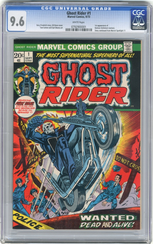 1973 Ghost Rider 1 CGC 96 White Pages