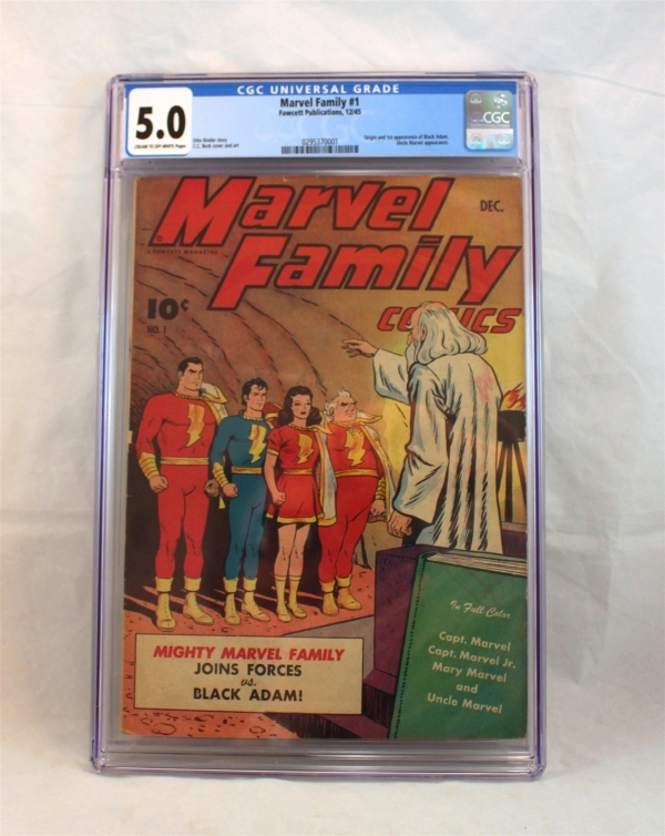 Marvel Family Comics 1 Fawcett Dec 1945 CGC 50 1st Appearance of Black Adam
