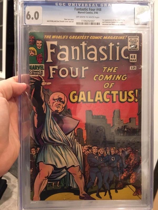 Fantastic Four 48 CGC 60 OWW 1st SILVER SURFER  GALACTUS 1966