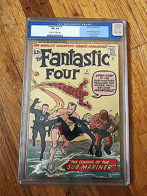 FANTASTIC FOUR 4 CGC 65 UNRESTORED OLD LABEL