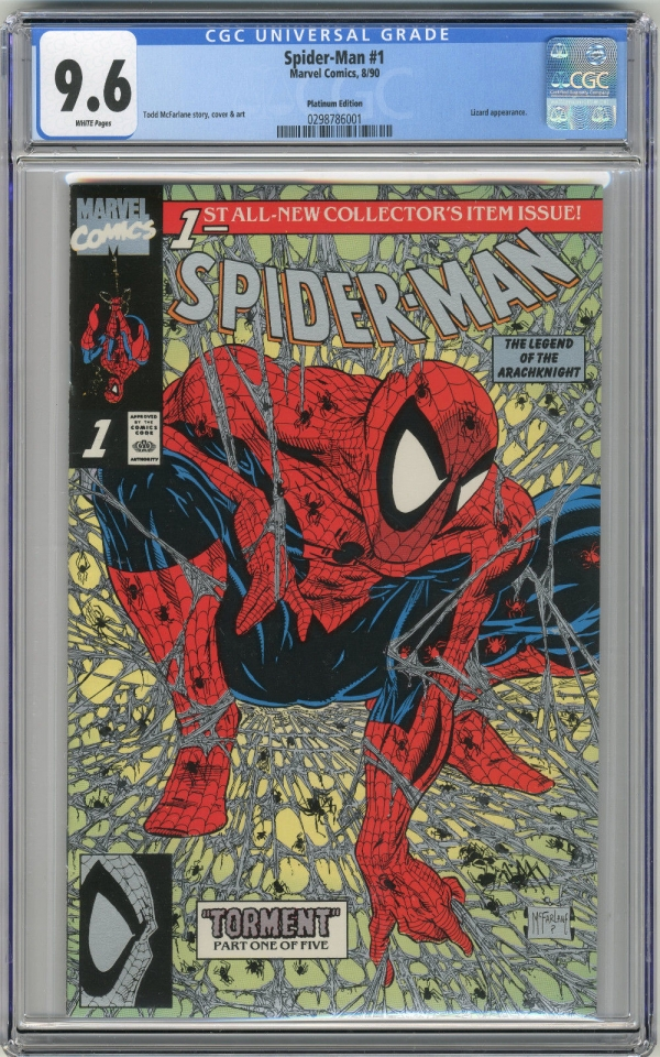 1990 SpiderMan 1 Platinum CGC 96