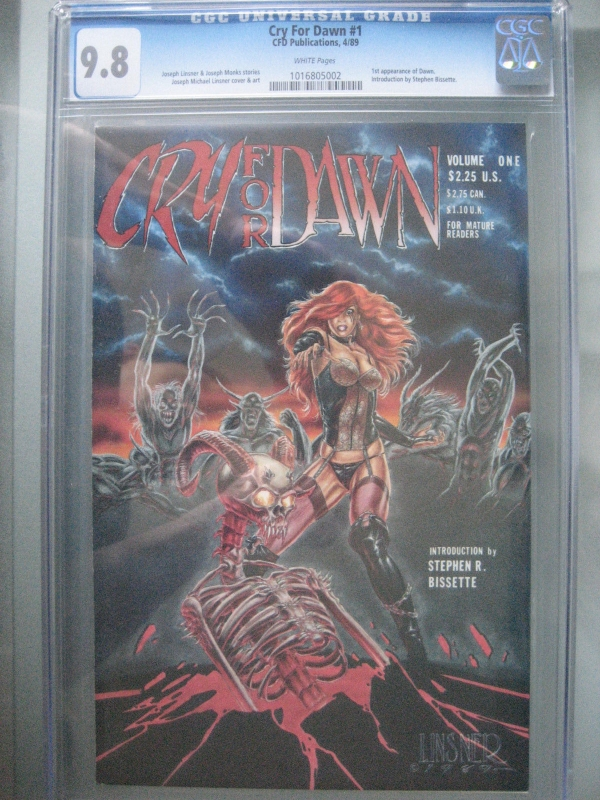 Cry for Dawn 1 CGC 98 WP 1st Dawn CFD Publications 1989