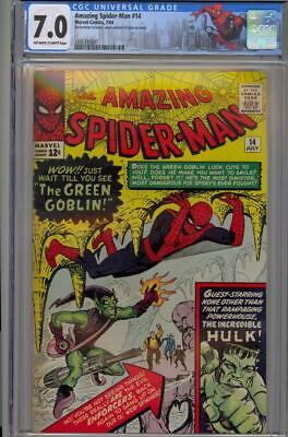 Amazing SpiderMan  14 CGC 70 OWW Marvel1964 1st Green Goblin