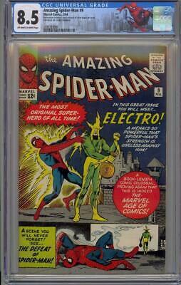 Amazing SpiderMan 9 CGC 85 OWW Marvel1964 1st Electro