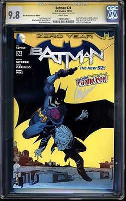 Batman 24 NYCC 2013  CGC SS 98 White Pages  Signed by Greg Capullo