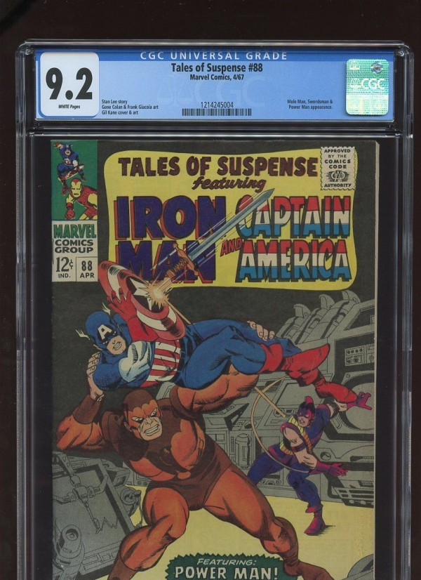 TALES OF SUSPENSE 88 CGC 92 WHITE PAGES 1967 1214245004 IRON MAN CAPT AMERICA