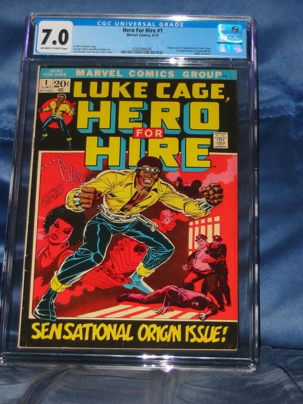 LUKE CAGE HERO FOR HIRE 1 CGC 70 MARVEL COMICS 1972 1st Appearance Luke Cage