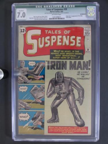 Tales of Suspense 39  CGC 70 Q  Marvel 1963  1st AppORIGIN of Iron Man