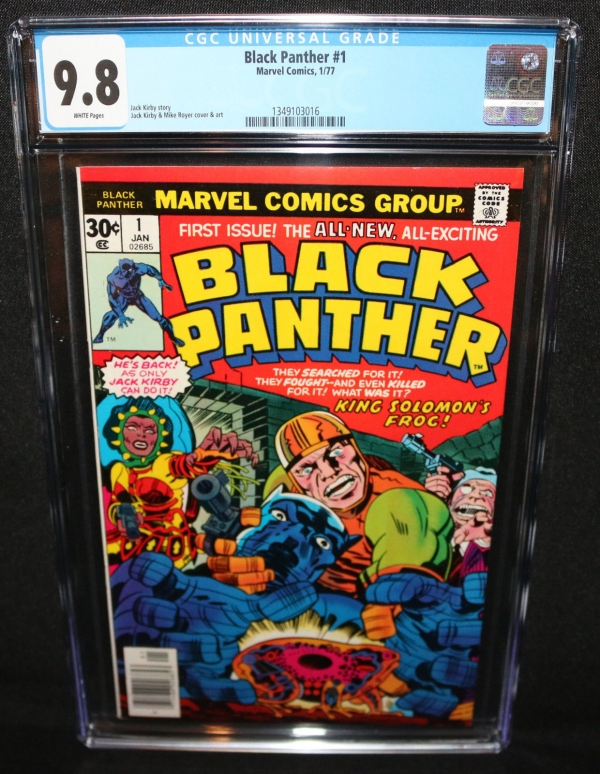 Black Panther 1  Jack Kirby Art  CGC Grade 98  1977
