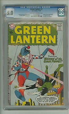 Green Lantern 1 CGC 50 LTOW pages Origin retold Gil Kane 1960 c09470