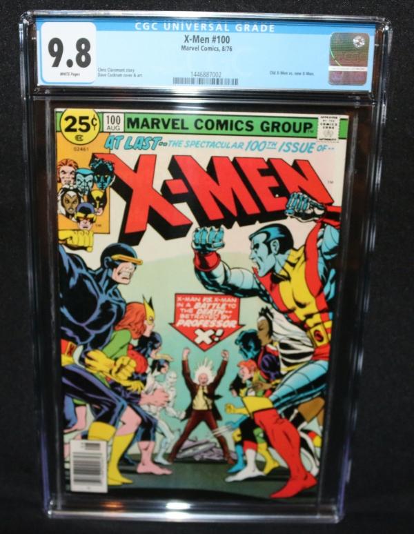 XMen 100  Old XMen vs New XMen  CGC Grade 98  1976