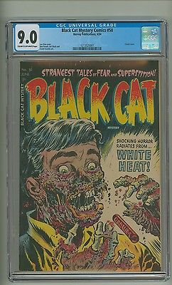 Black Cat Mystery Comics 50 CGC 90 COW pages Classic cover 1954 c11628