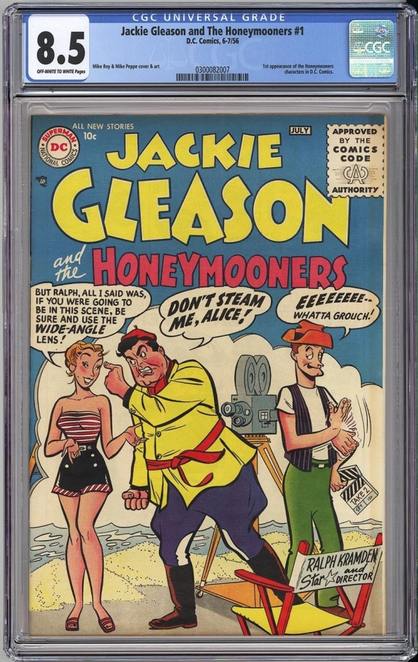 JACKIE GLEASON AND THE HONEYMOONERS 1  CGC VF 85  EXTREMELY RARE KEY DC