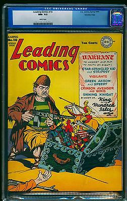 Leading Comics 10 CGC NM 92 White Crowley