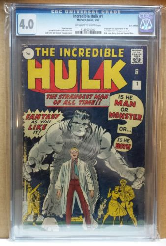 Hulk 1 CGC 40 1st Appearance of the Incredible Hulk
