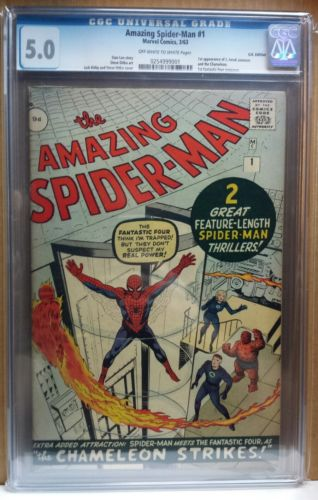 Amazing Spiderman 1 CGC 50 1st Spidey in own title