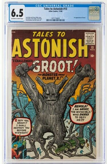 Tales to Astonish 13 Marvel 1960 CGC FN 65 Offwhite to white pages  Firs