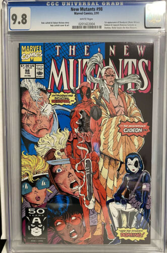 New Mutants 98 CGC NMM 98 White Pages 1st Deadpool1 OwnerHOT BOOK