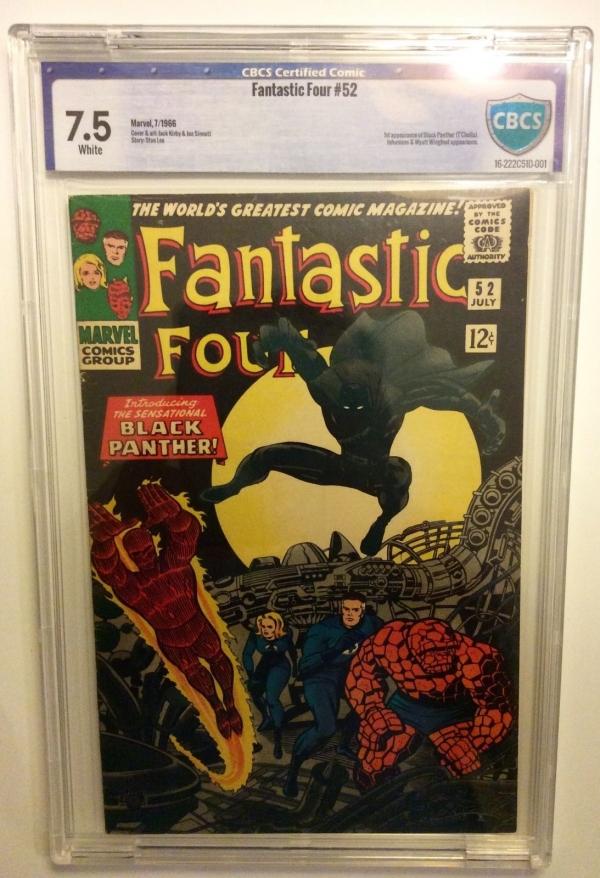 Fantastic Four 52 CBCS 75 1 st Black Panther cgc Unrestored  Civil War Stan