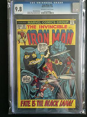 Iron Man 53 CGC 98 OWW 60 98 W and 61 OWW  Highest Certified