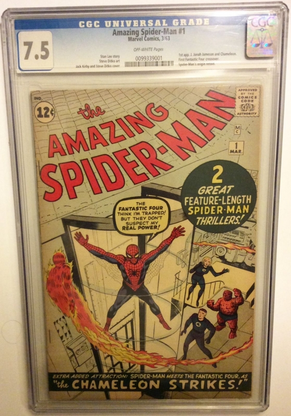 THE AMAZING SPIDERMAN  1 CGC 75 after Fantasy 15 Stan Lee Fantastic four