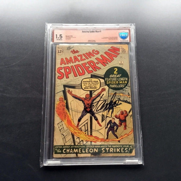 1963 Marvel Comics AMAZING SPIDERMAN 1 CBCS 15 GD Signed by Stan Lee not CGC