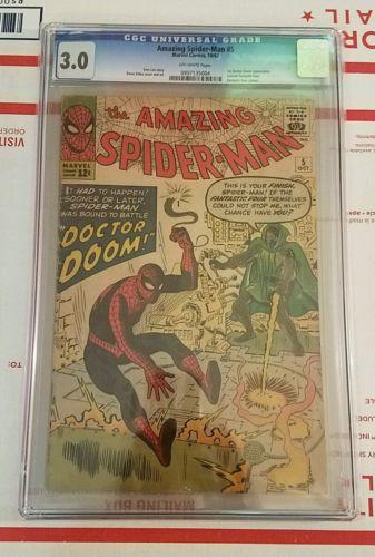 The Amazing Spiderman 5 CGC 30 Marvel Comics Spiderman 1963