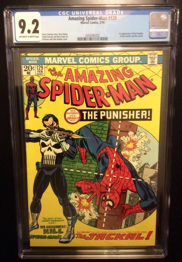 THE AMAZING SPIDERMAN  129 cgc 92 1st Punisher  Daredevil Lee  Romita