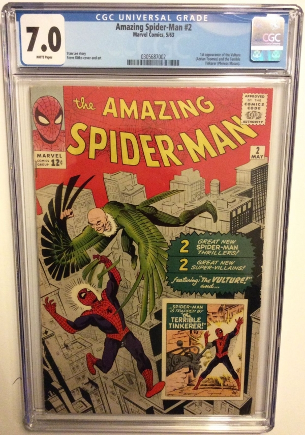 AMAZING SPIDERMAN  2 CGC 70 3rd after Fantasy 15 Stan Lee 1 st Vulture