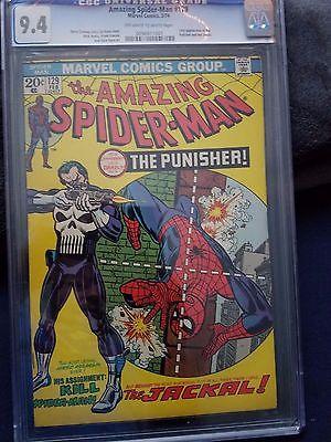 The Amazing SpiderMan 129 Feb 1974 Marvel 1st Punisher CGC 94