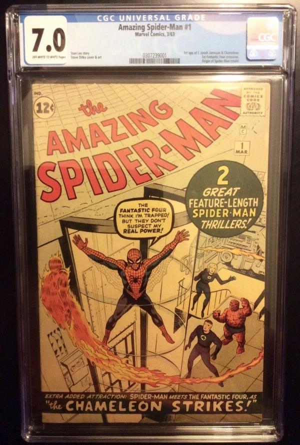 THE AMAZING SPIDERMAN  1 CGC 70 2 after Fantasy 15 Stan Lee Fantastic four