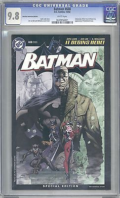 BATMAN 608 RRP CGC 98 VARIANT COVER DEC2002 LEE ULTRA RARE