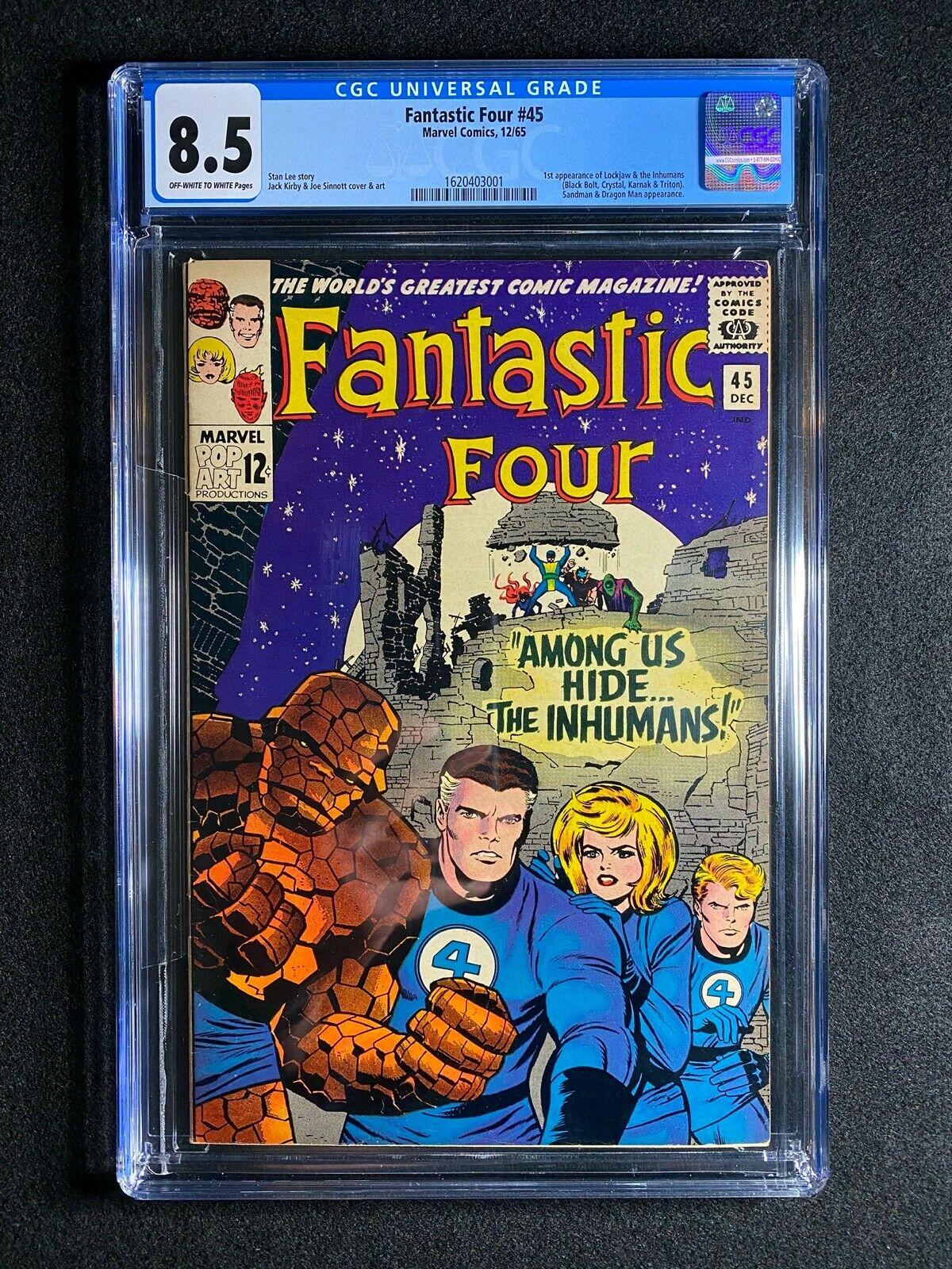 Fantastic Four 45 CGC 85 1965  1st app of the Inhumans