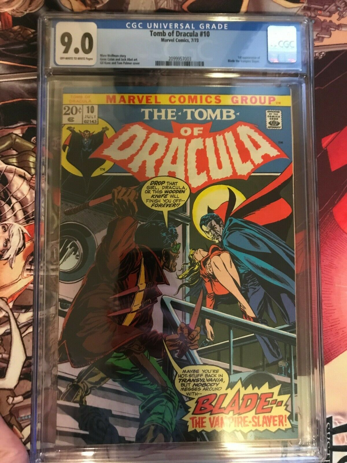 Tomb of Dracula 10 1973 Marvel CGC 90 First Appearance of Blade