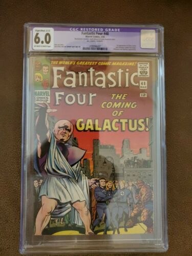 Fantastic Four 48 CGC 60  Marvel 1966  1st Silver Surfer  Galactus Cameo