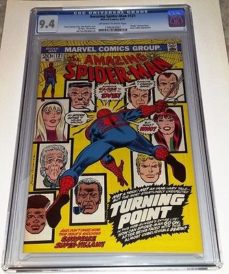 Amazing SpiderMan 121  Death of Gwen Stacy 1973 Marvel Comics  CGC 94
