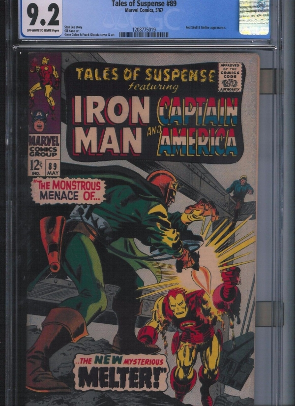 Tales of Suspense  89 CGC 92  Off White to White Pages UnRestored