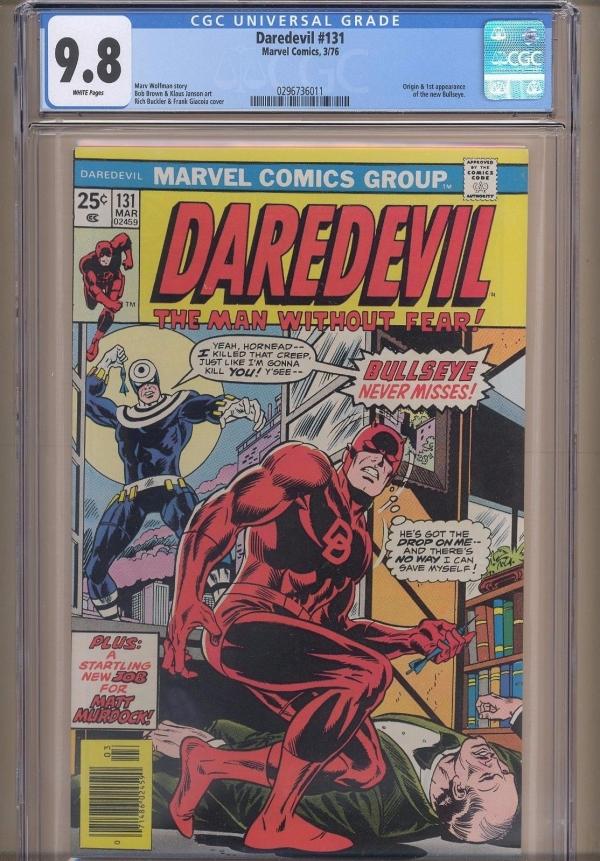 Daredevil 131 1976 CGC 98 WPOrigin  1st Bullseye appearance