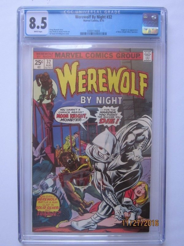 Rare Collectors Comics Werewolf By Night 32 Cgc 85 White