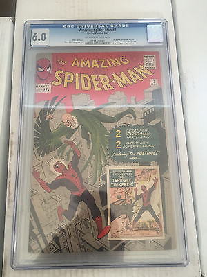 Amazing Spiderman 2 CGC 60 Stan Lee Steve Ditko 1st Vulture free shipping